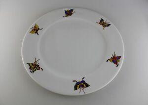 Großer Teller wohl Entwurfsteller Porzellan France de Limoges Schmetterlinge