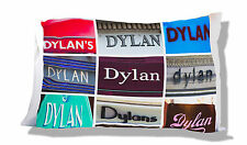 Personalized Pillowcase featuring the name DYLAN in photos of signs
