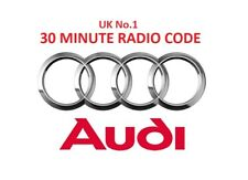 AUDI Radio Code Unlock Service - FAST SERVICE * OFFICIAL *