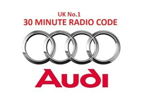 AUDI Radio Code Unlock Service - FAST SERVICE * OFFICIAL *