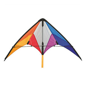 HQ Calypso 2 Beginner Sport Stunt Kite Rainbow Ready to Fly