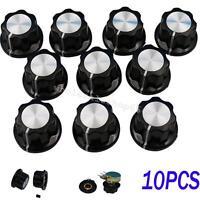 Durable 10Pcs Potentiometer Knob 16mm Top Rotary Control Turning Knob 20 x 12mm