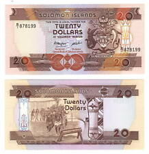 Unc Solomon Islands $20 Dollars (1986) P-16 B/1 Prefix Banknotes Paper Money