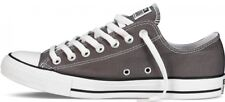CONVERSE ALLSTARS CHARCOAL GREY LOW TOPS LADIES UK SIZES 3 TO 8