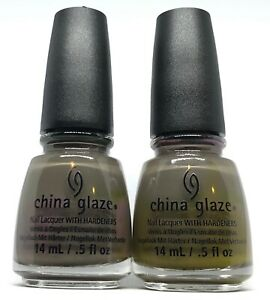 China Glaze Nail Polish Don't Get Derailed 1320 Green Gray Creme Lacquer
