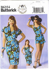 Halter Bustier Sarong Skirt Shorts Bolero Sewing Patterns by Gertie 6 8 10 12 14