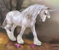 Breyer Traditional Xavier Unicorn Horse Toy Model 1:9 Scale Drafter Gorgeous