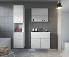 Badezimmer Badmöbel Montreal 60 cm Waschbecken Hochglanz Weiß Fronten