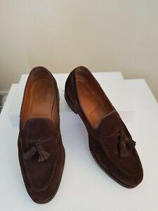 Meermin Mallorca Tassel Suede Loafer in Chocolate Brown in UK9 EU43