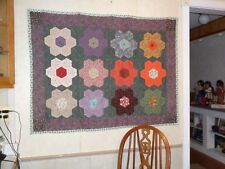Quilt made/designed by Donna Caruso, hand-sewn, pieced, quilted, tied, buttons