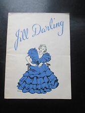 1938 JILL DARLING THEATRE ROYAL BIRMINGHAM PROGRAMME MUSICAL COMEDY GREAT PHOTOS