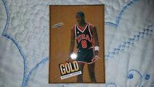 1984 OLYMPIC USA MICHAEL JORDAN BASKETBALL CARD+SHOWTIME GOLD ROOKIE CARD