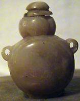 VINTAGE SMALL MOTTLED JADE SNUFF JAR