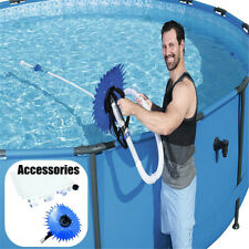 Outdoor Swimming Pool Automatic Cleaner Maintenance Vacuum Cleaning Brush  NEW