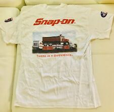 NEW WITH TAGS White SNAP ON TOOLS T Shirt Short Sleeve LG In Original Packaging