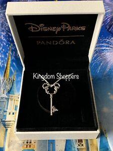 Disney Parks Exclusive Castle Fantasyland Key Mickey Necklace Charm Pandora