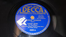 """COUNT BASIE ORCHESTRA Boogie Woogie Jazz / How Long Blues 10"""" 78 Decca 2355"""