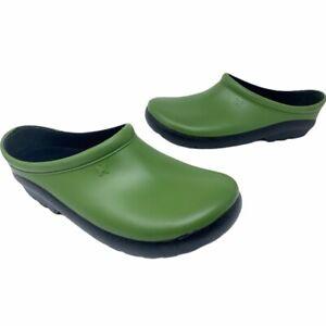 Sloggers Womens Premium Garden Clogs Green Anti Microbial Moisture Wicking 7 New