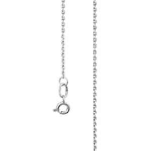 585 14ct 14 Karat White Gold Elegant Cable Chain Necklace 55 cm Women