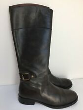 Tommy Hilfiger Women Dark Grey Knee Length Real Leather Boots Size UK 5 EU 38