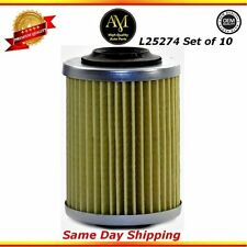 L25274 Oil Filter Set of 10 GMC ,Cadillac, Oldsmobile, Pontiac, 2.8L 3.0L 3.6L