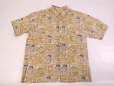 Tori Richard Mens Hawaiian Shirt Short Sleeve Collar Golfing Cotton Sz L Large
