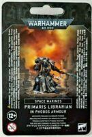 >> Space Marines PRIMARIS LIBRARIAN IN PHOBOS ARMOUR Warhammer 40k NIB!