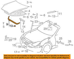 53381-24041 Toyota Seal, hood to radiator support 5338124041, New Genuine OEM Pa