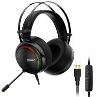Tronsmart Glary Gaming RGB Headset USB ohrumschließenden Kopfhörer mit Mikrofon