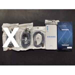 Samsung A50 Accessories Bundle Fast Charging Leads Phone Cover Screen Protector