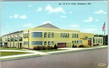 ANNISTON, Alabama  AL    U.S.O CLUB   ca 1940s  Linen     Postcard