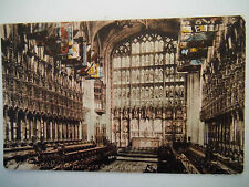 Windsor College St Georges Chapel Choir East Old Postcard Frith Series