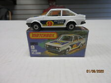 VINTAGE MATCHBOX #9 FORD RS 2000 WHITE SHELL IN K BOX