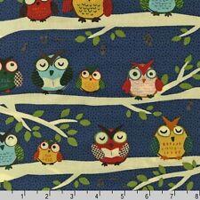 Robert Kaufman Night Owl Club Midnight Fabric