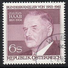 AUSTRIA SG1918 1981 JULIUS RAAB(POLITICIAN) FINE USED