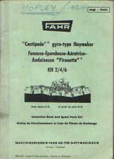 Fahr Tedder Centipede Haymaker KH2 KH4 KH6 Ops Manual