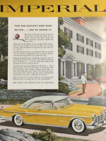 1955 IMPERIAL Vintage Chrysler Auto Print Ad Finest Car America Produced