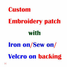 Custom Embroidery your Logo Customized Iron on Embroidered Patches Hot Cut Edge