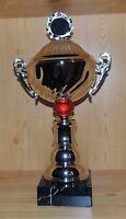 1 Henkelpokal Wanderpokal silber mit Emblem 51cm #EZ9(Pokal Pokale Gravur Sport)