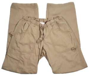 Koi Classics Lindsey Womens XS Camel Tan Cotton Blend Scrub Pants #701