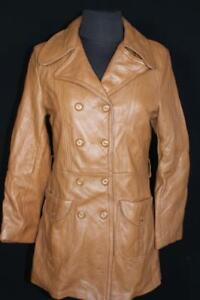 RARE QUALITY VINTAGE 1960'S WOMAN'S BROWN DEERSKIN LEATHER JACKET SIZE MEDIUM