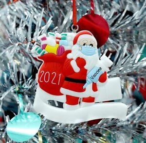 DIY Christmas Tree Decoration Bauble Ornament Santa Vaccine Father Xmas 2021