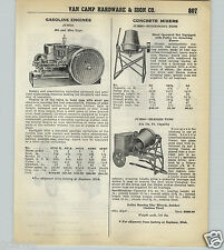 1939 40 PAPER AD Jumbo Hat & Miss Gas Gasoline Engine Concrete Mixer 2 4 Wheel