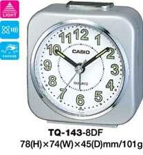 CASIO ALARM DESK CLOCK TQ143 TQ-143-8D TQ-143 12-MONTH WARRANTY
