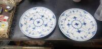 Set of 2 Vintage Royal Copenhagen Denmark Half Lace Salad Plates