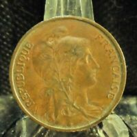 CIRCULATED 1920 5 CENTIMES FRENCH COIN (80819)1...