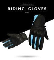 Racing in pelle Moto Guanti da Corsa Motocross Motociclista Knuckle Gratis