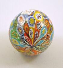 NEW MURANO MILLEFIORI BALL ORNAMENT ITALIAN ART GLASS ITALY ISLAND OF MURANO