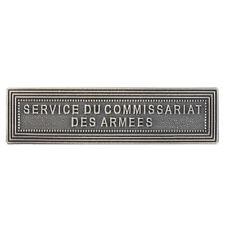 Agrafe pour médaille Ordonnance SERVICE DU COMMISSARIAT DES ARMÉES
