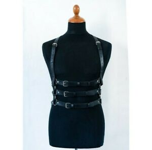 Adult unisex PU Leather Body harness Fancy Nightclub Costume party Cosplay Props